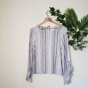 ●June & Hudson Striped Long Sleeve Blouse